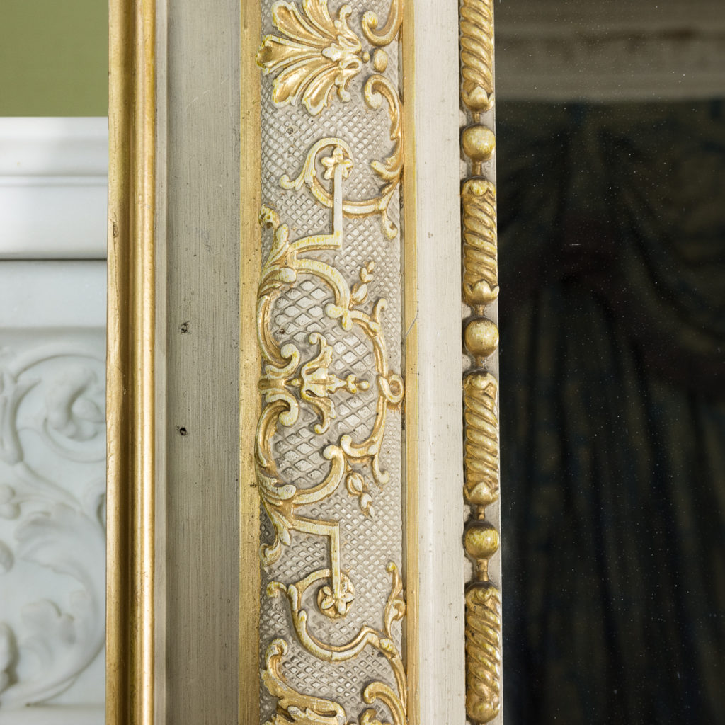 Large Louis XV style overmantle mirror,-134142