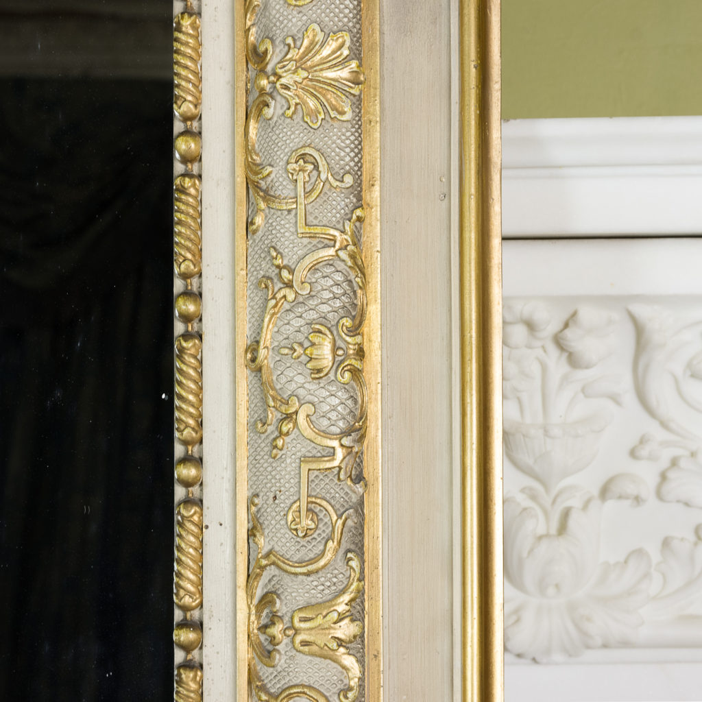 Large Louis XV style overmantle mirror,-134143