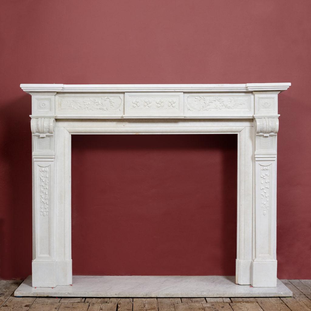 Late nineteenth century Louis XVI style fireplace,