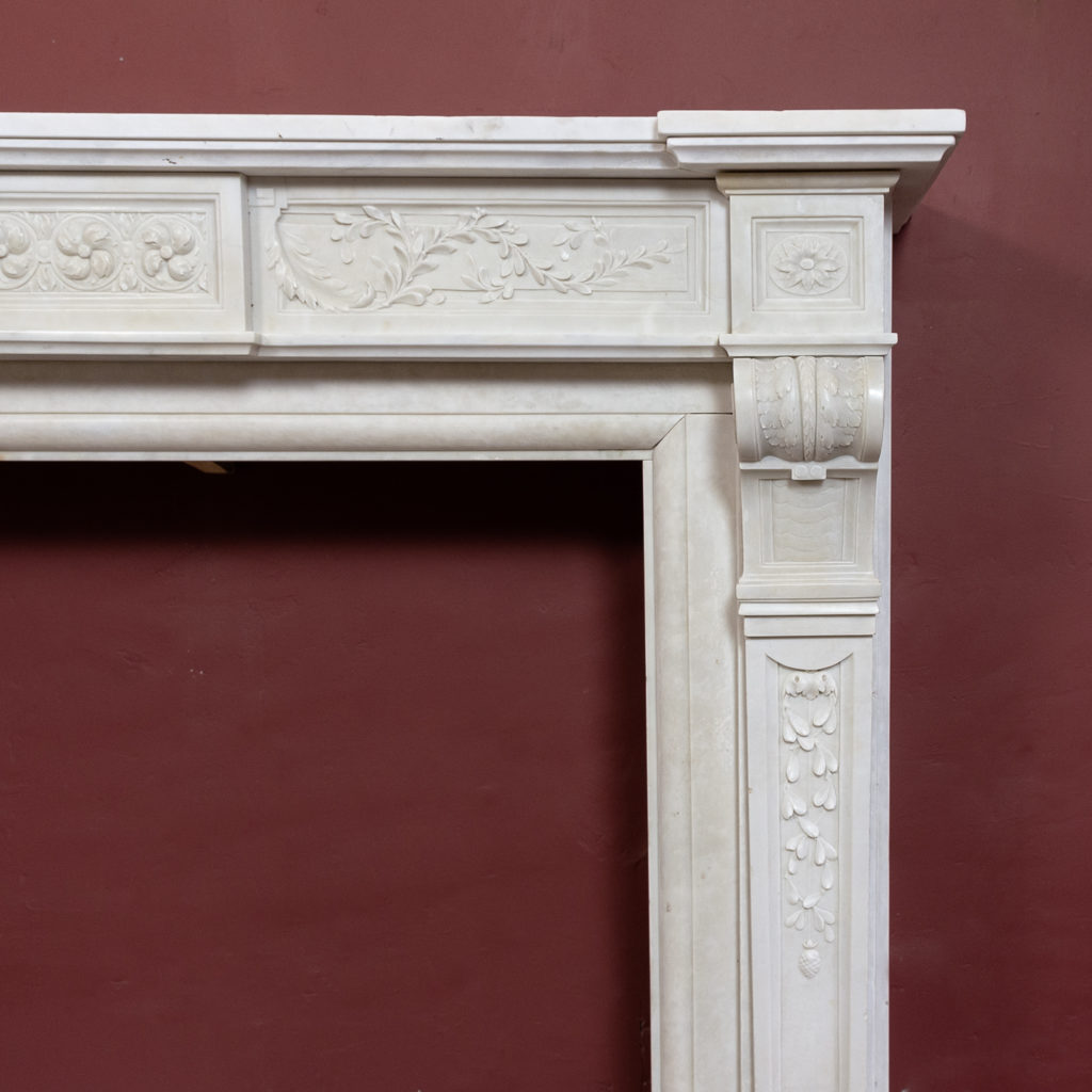 Late nineteenth century Louis XVI style chimneypiece