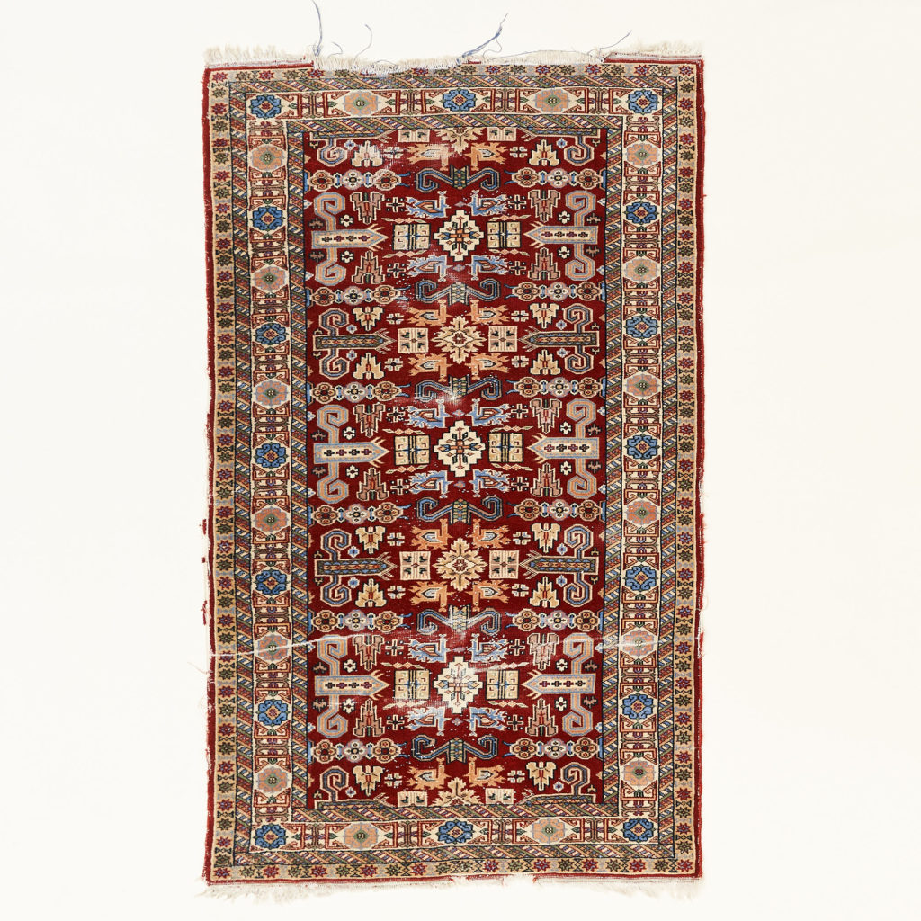 Caucasian Kazak prayer carpet,-0