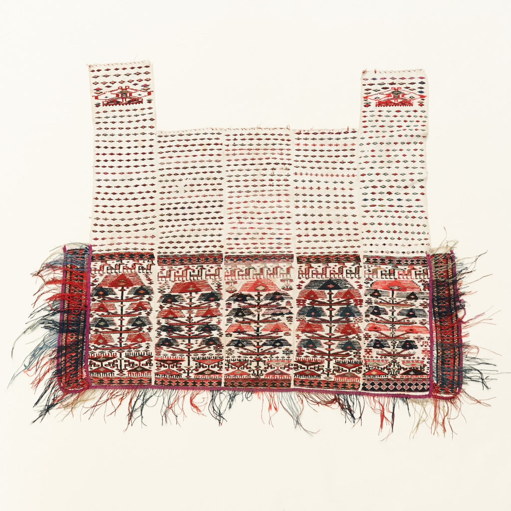 Tribal flat weave horse trapping,-0