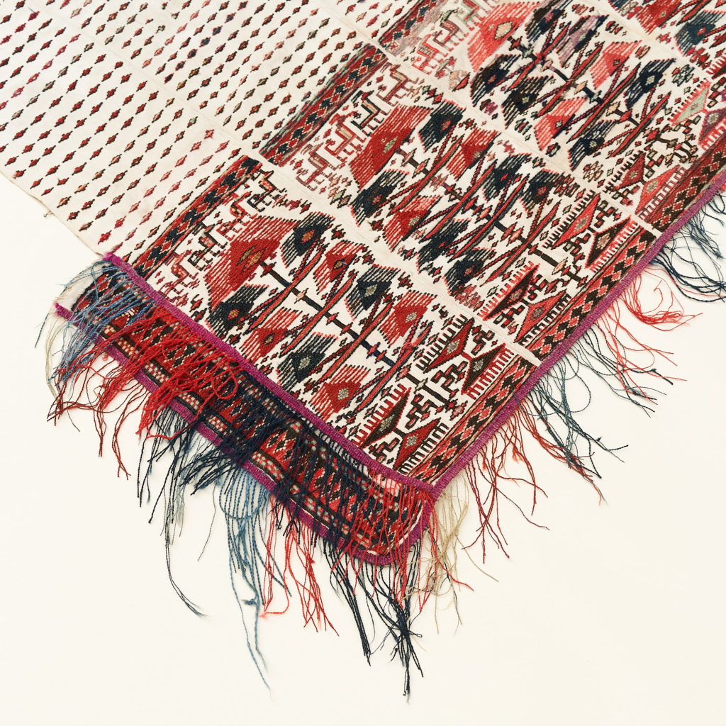 Tribal flat weave horse trapping,-133979