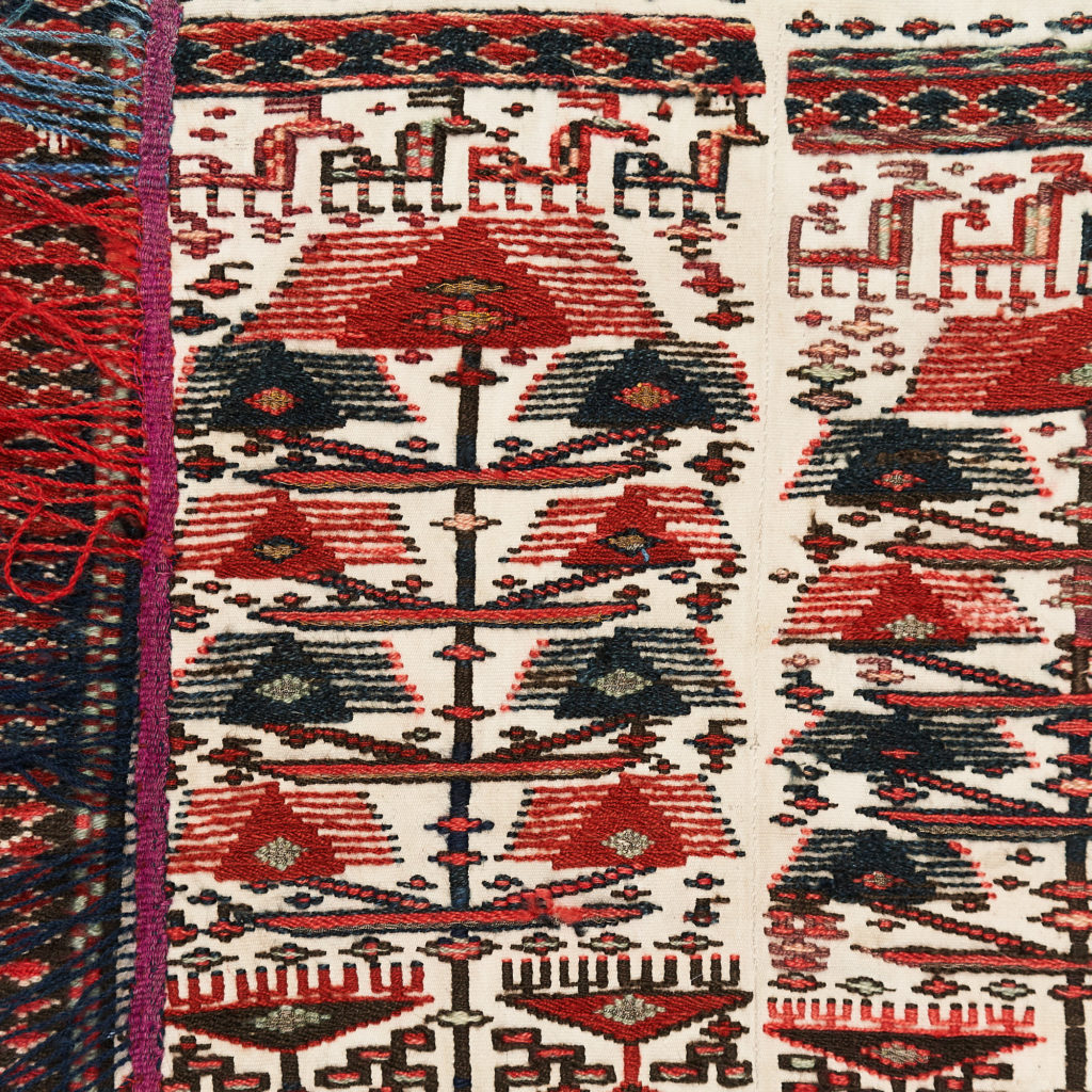Tribal flat weave horse trapping,-133980