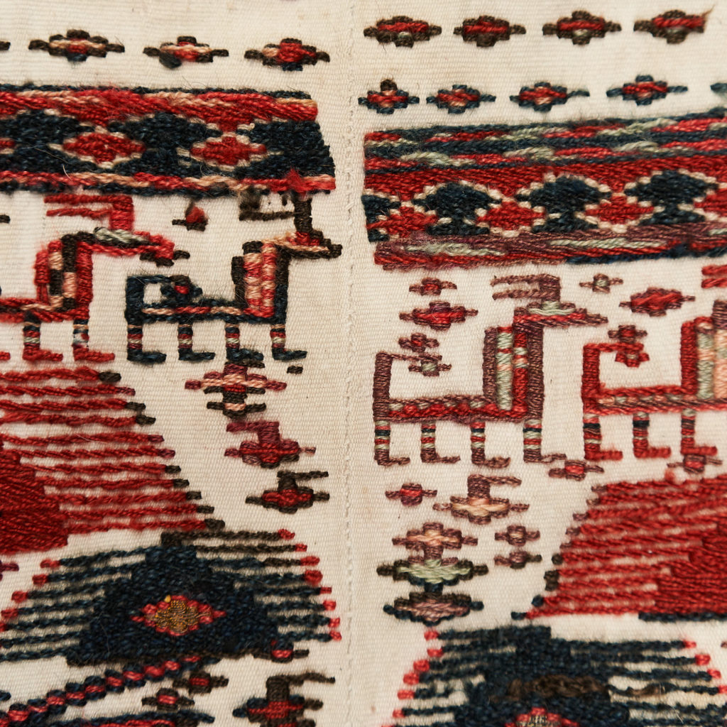 Tribal flat weave horse trapping,-133982
