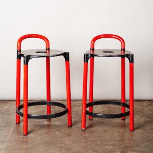 A pair of 'Kartell' bar stools,-0