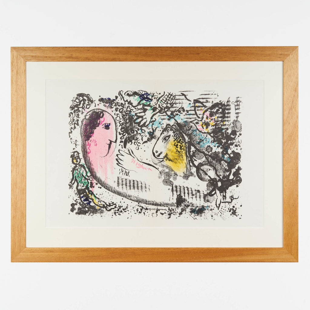 Marc Chagall lithograph,-0