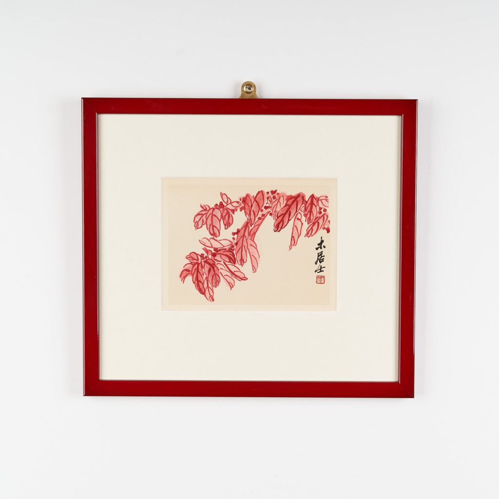 1950's Chinese floral lithograph,-0