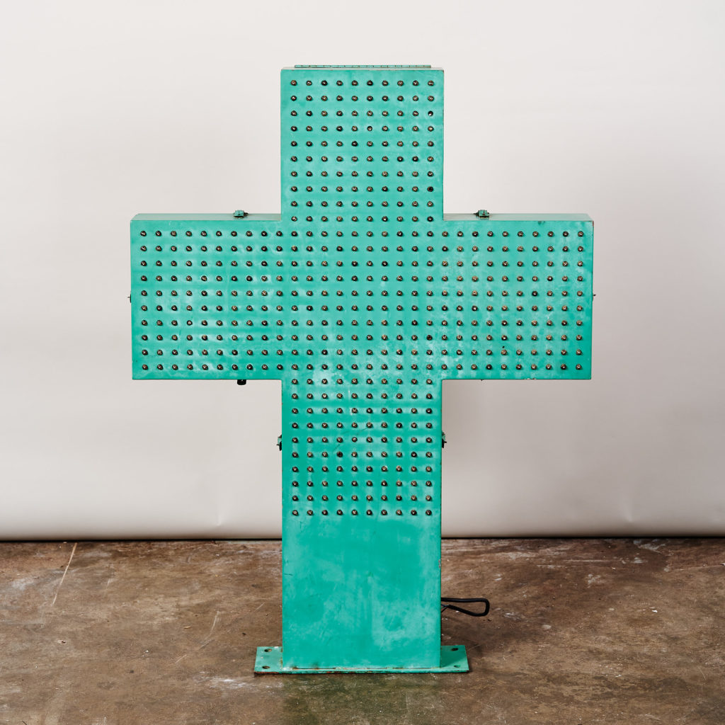 Reclaimed pharmacy sign,-0