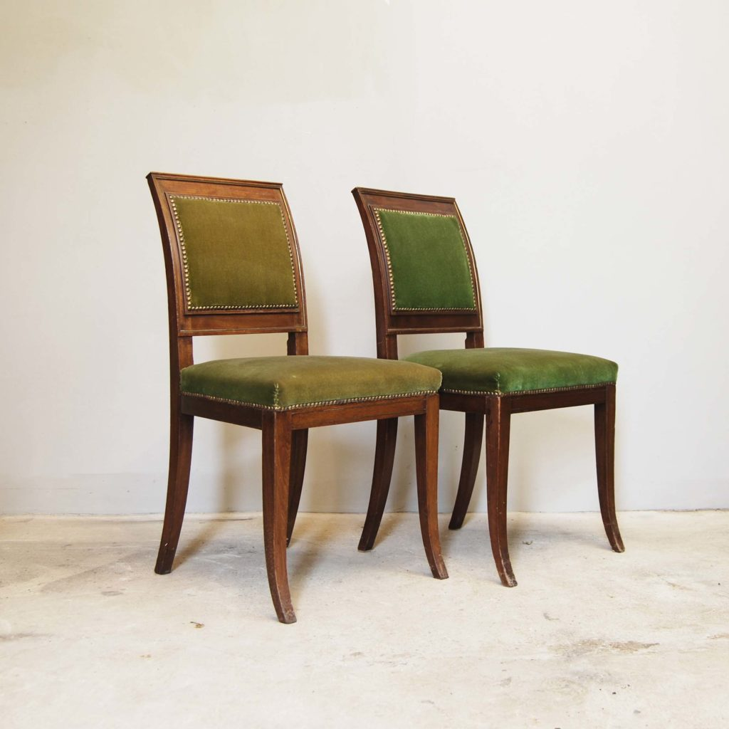 A pair of continental mahogany side chairs-0