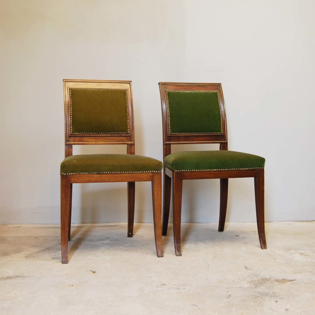 A pair of continental mahogany side chairs-134953