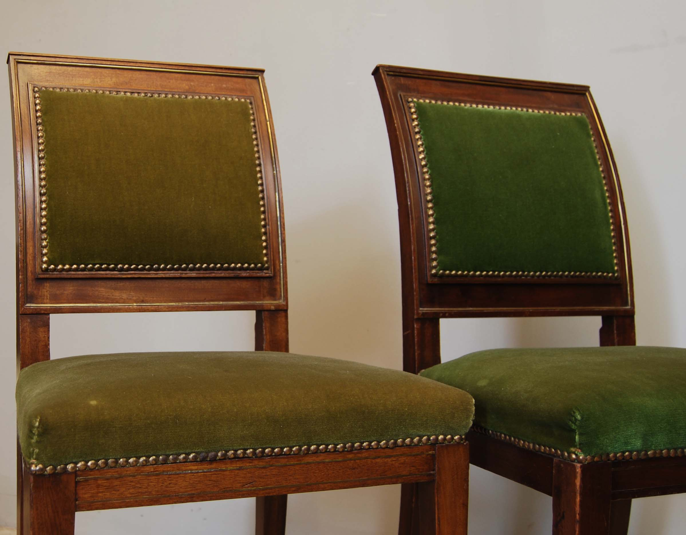 A pair of continental mahogany side chairs-134954