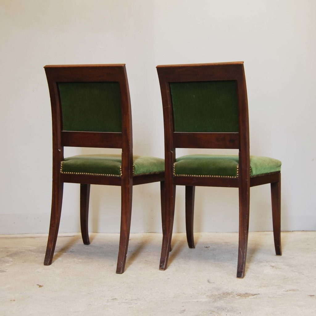 A pair of continental mahogany side chairs-134955