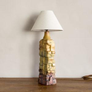 1970s studio pottery table lamp by Bernard Rooke,