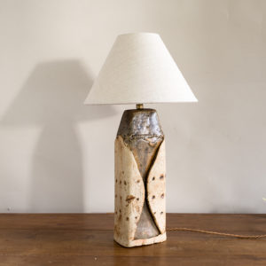 1970s studio pottery table lamp by Bernard Rooke,