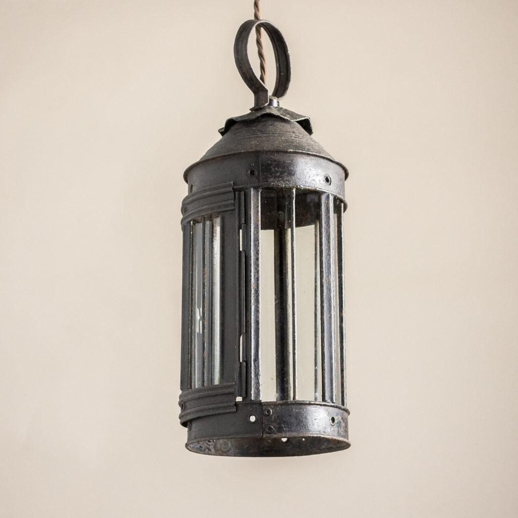 Small nineteenth century toleware lantern,