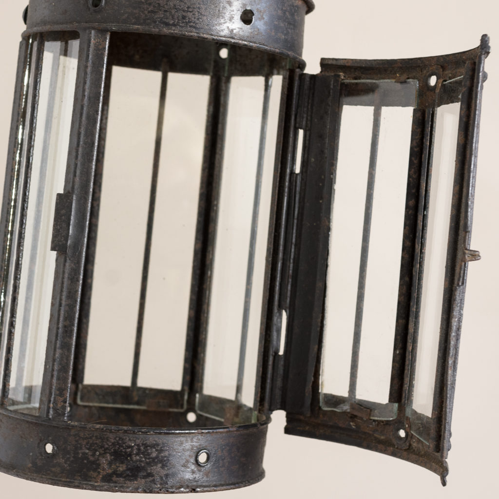 Small nineteenth century toleware lantern,-135061
