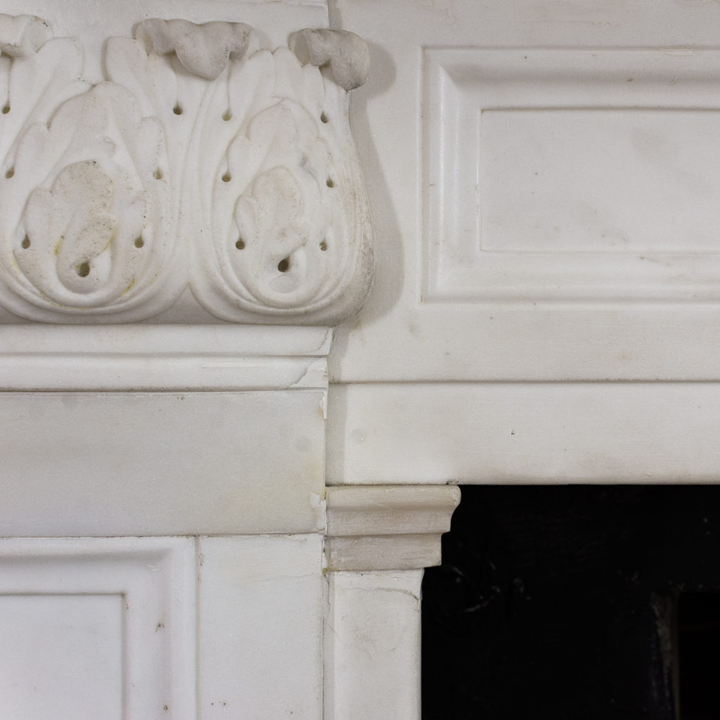 Regency statuary marble chimneypiece,-134708