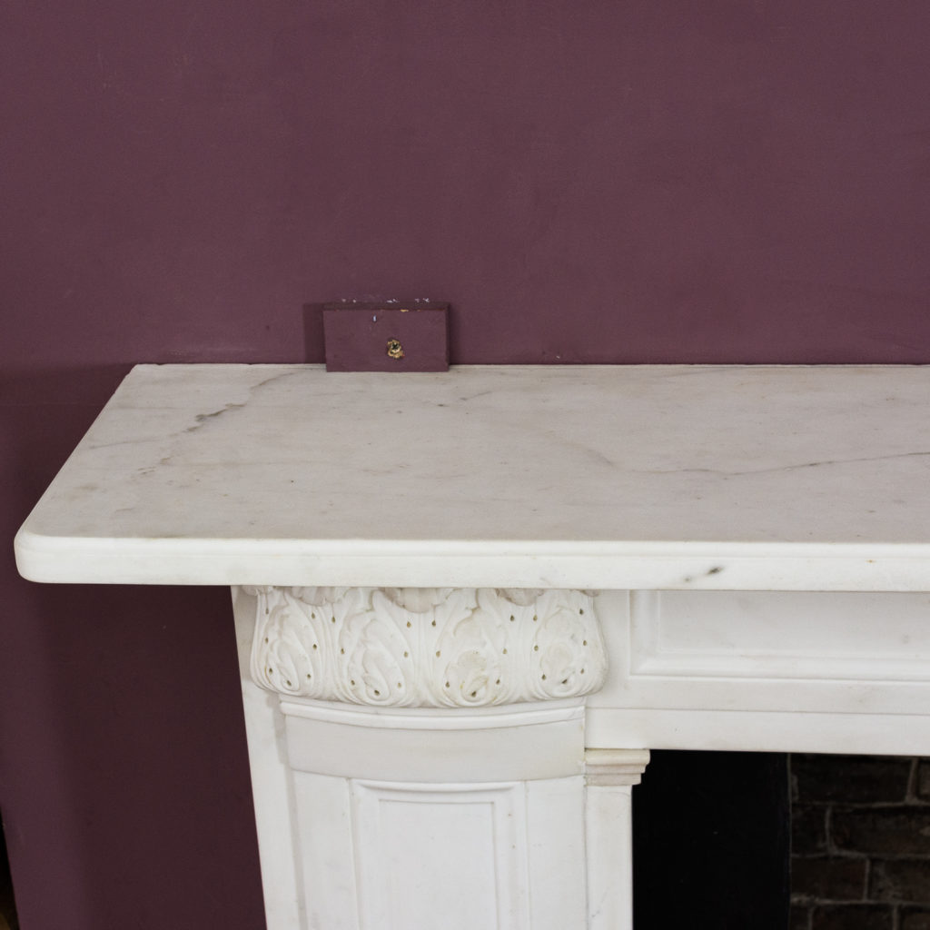Regency statuary marble chimneypiece,-134711