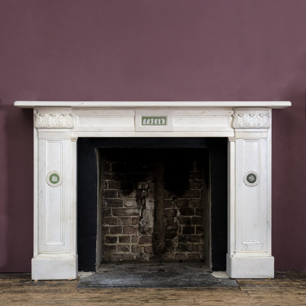 Regency statuary marble chimneypiece,