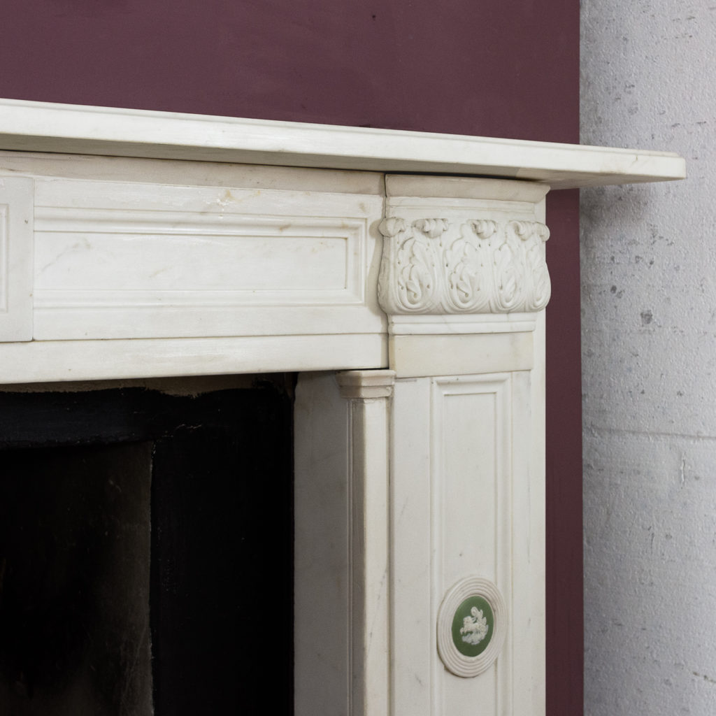 Regency statuary marble chimneypiece,-134700