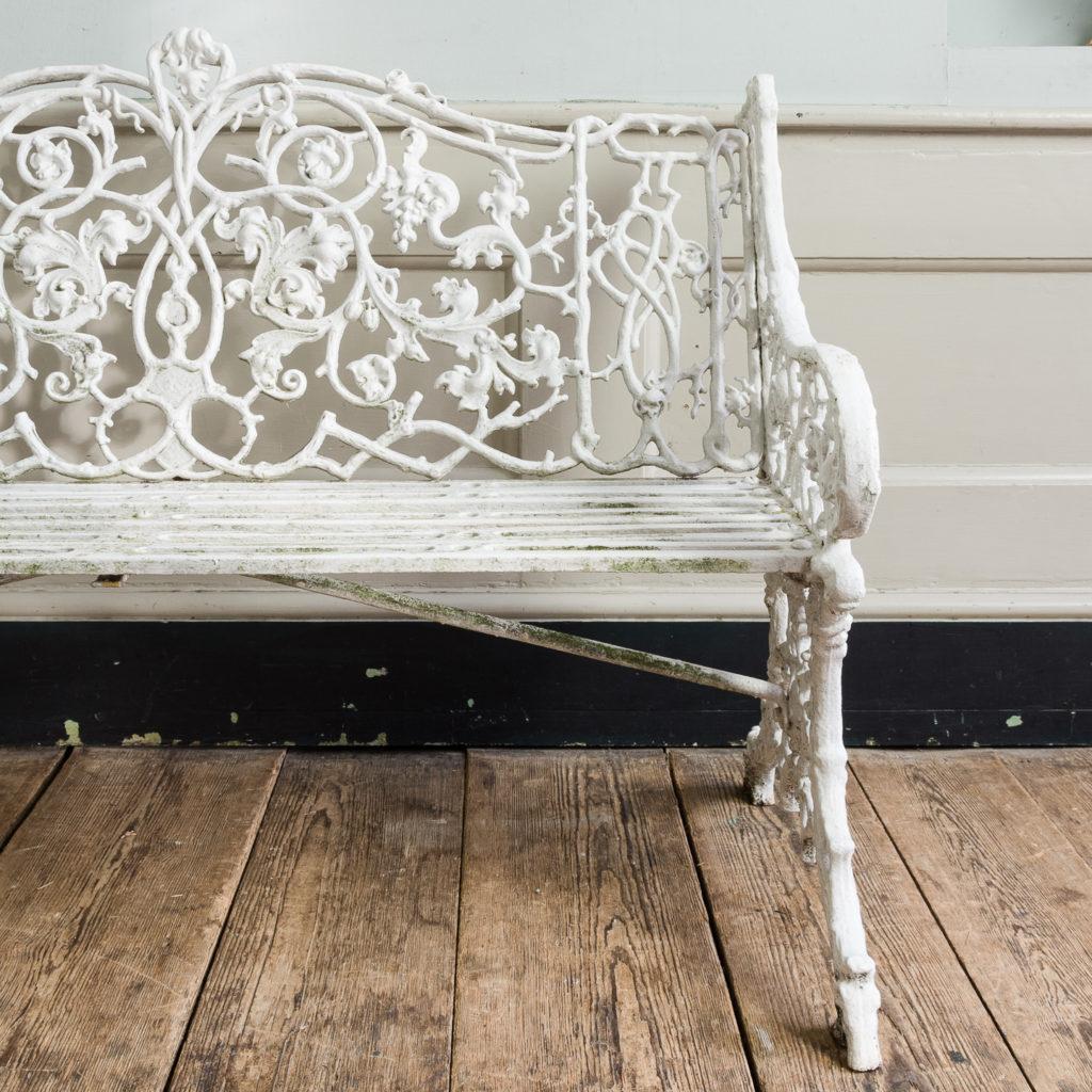 Victorian cast iron garden bench,-134416