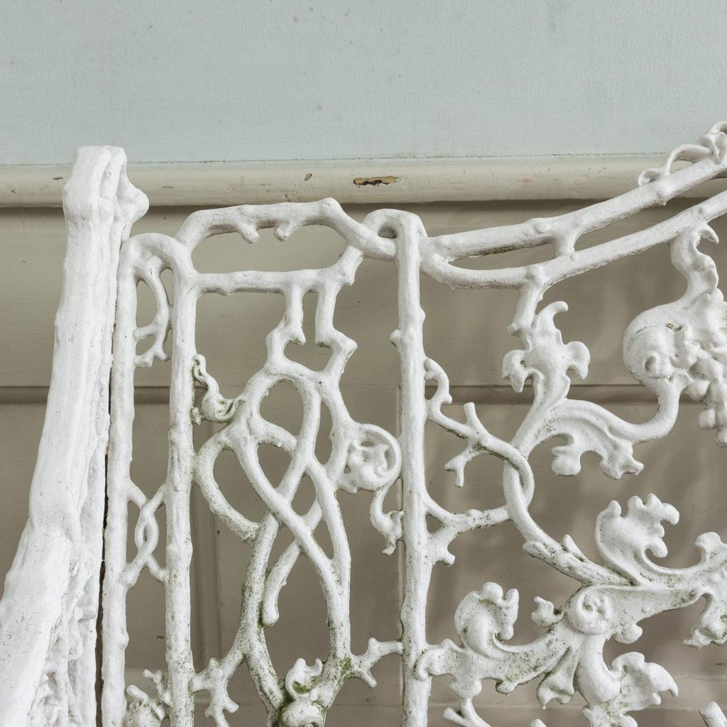 Victorian cast iron garden bench,-134417