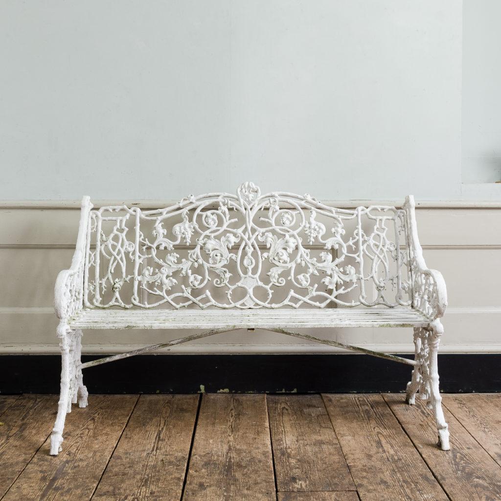 Victorian cast iron garden bench,-134418