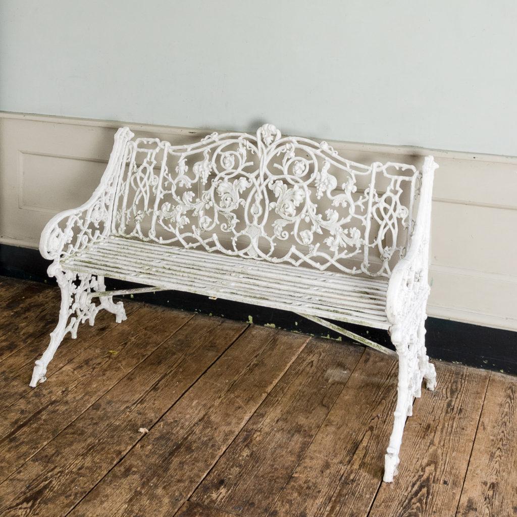 Victorian cast iron garden bench,