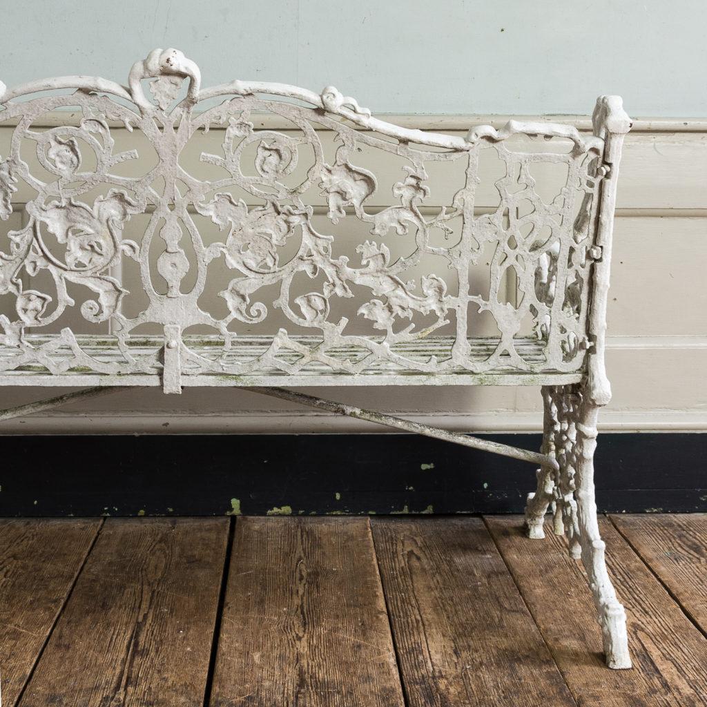 Victorian cast iron garden bench,-134413