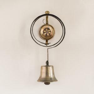 Victorian brass servant's bell,