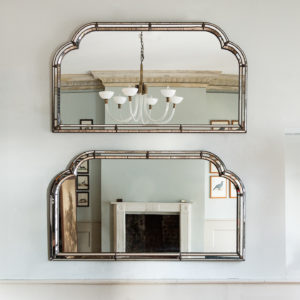 Pair of Art Deco style wall mirrors,