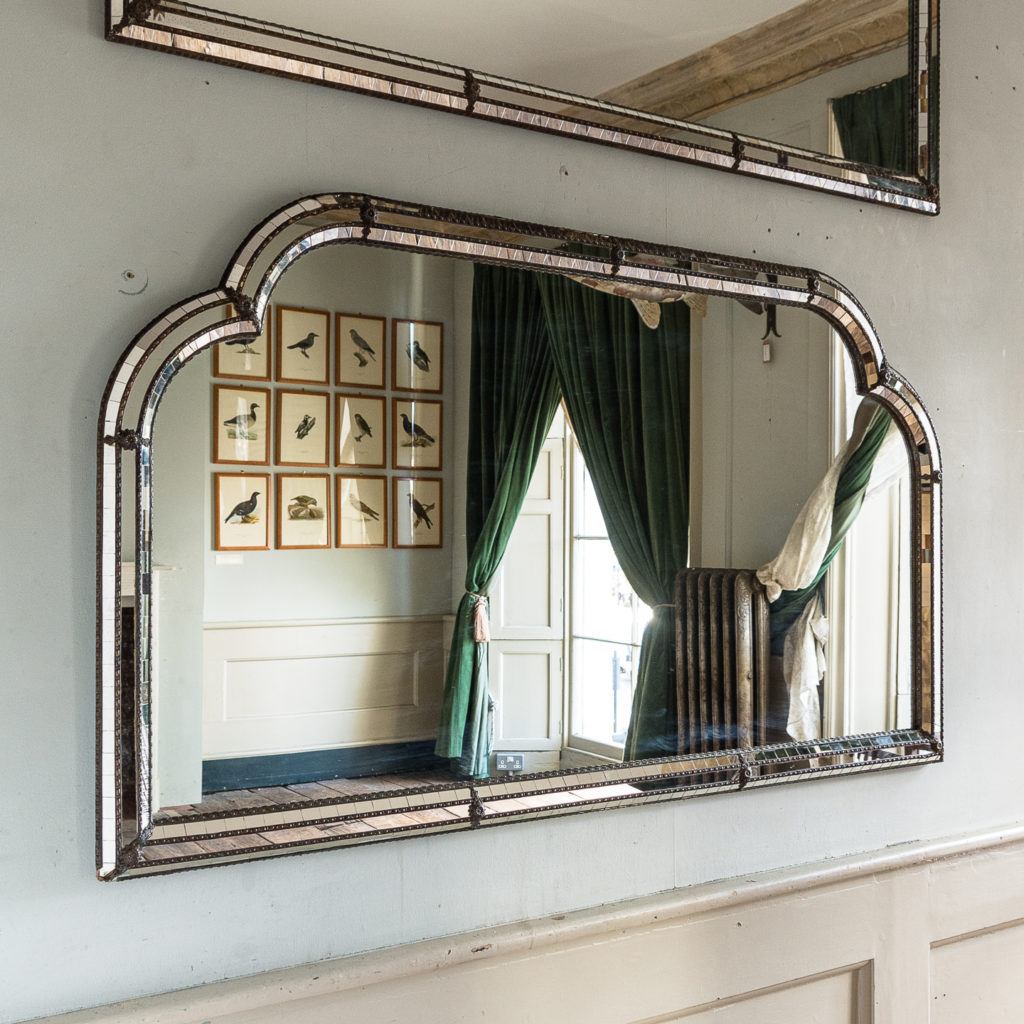 Pair of Art Deco style wall mirrors,-134966
