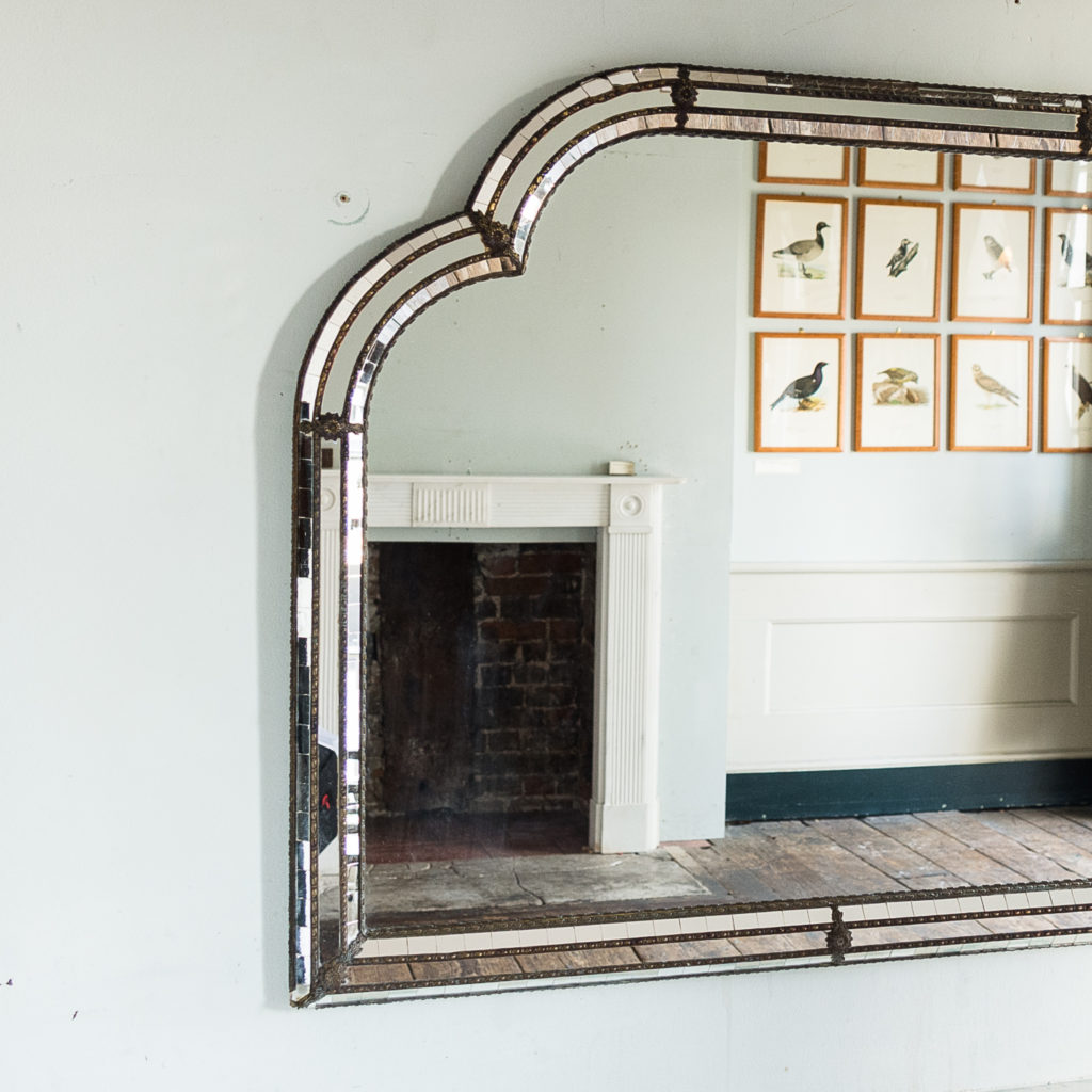 Pair of Art Deco style wall mirrors,-134956