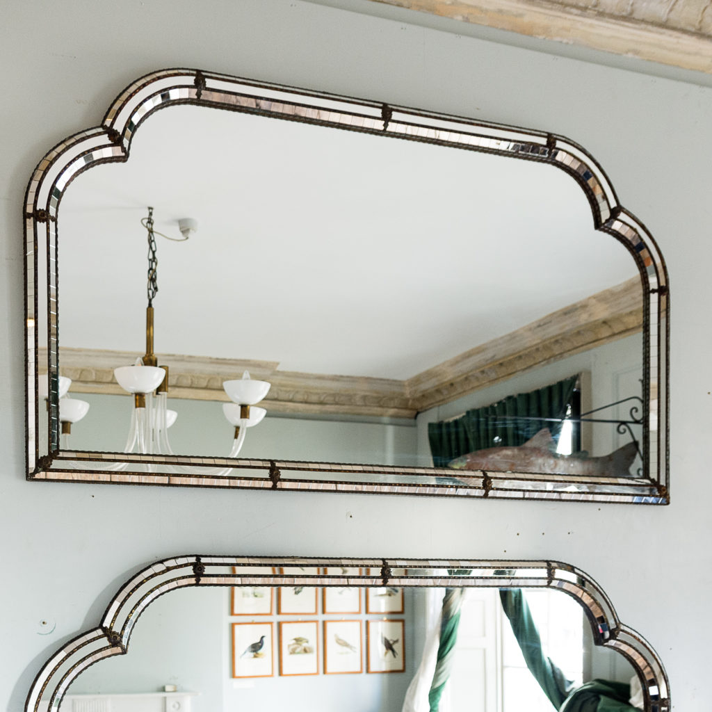 Pair of Art Deco style wall mirrors,-134958