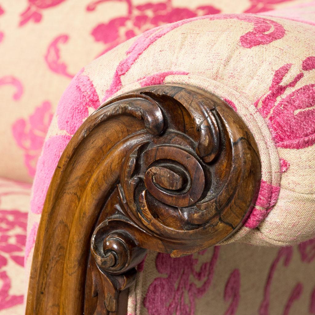 Large nineteenth century rosewood sofa,-135163