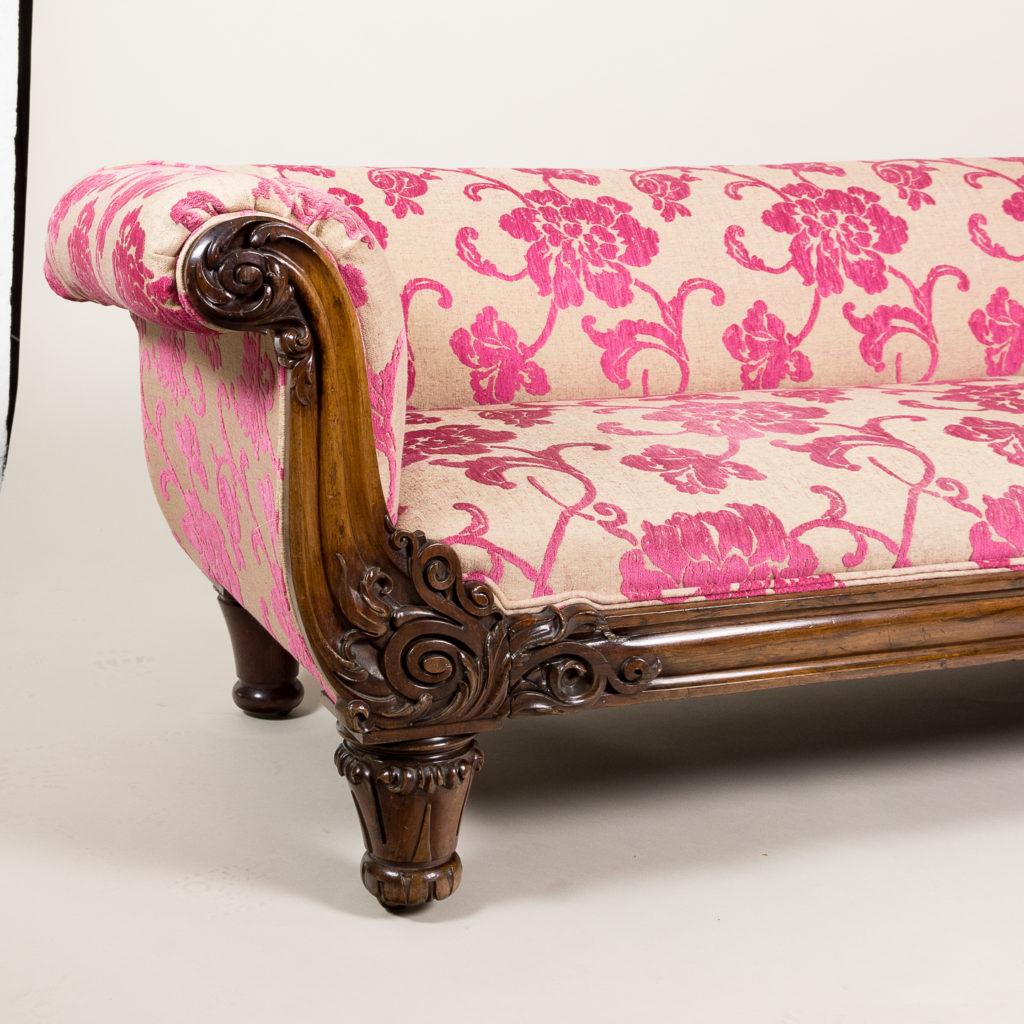 Large nineteenth century rosewood sofa,-135167