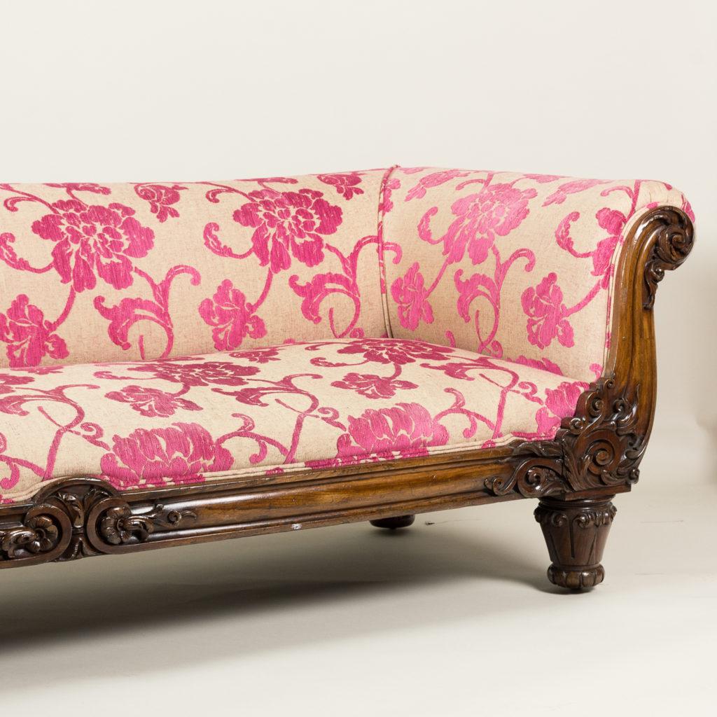 Large nineteenth century rosewood sofa,-135169