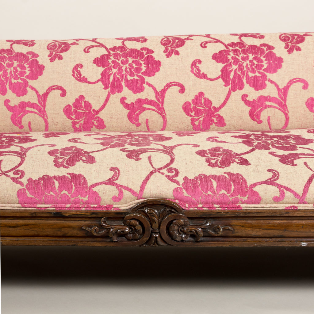 Large nineteenth century rosewood sofa,-135157