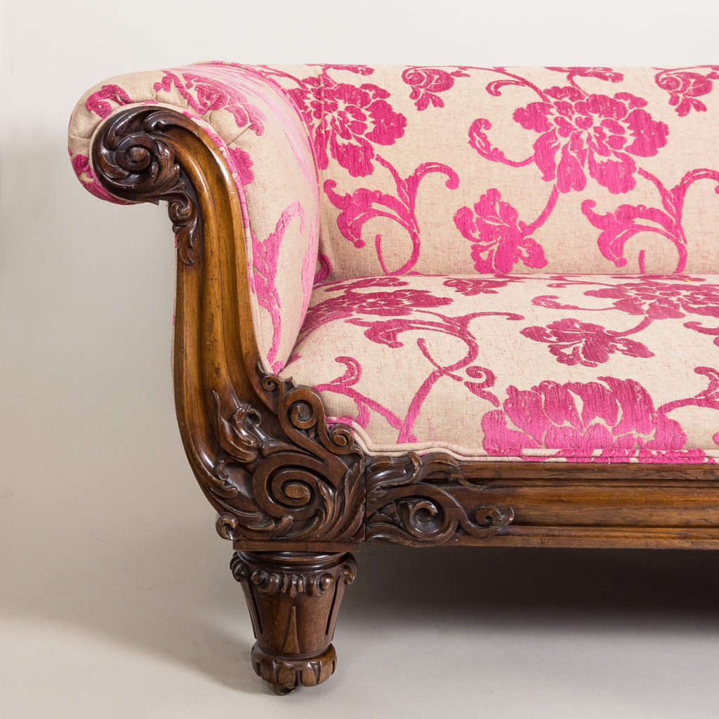 nineteenth century rosewood sofa,