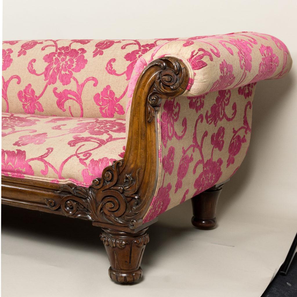 Large nineteenth century rosewood sofa,-135162