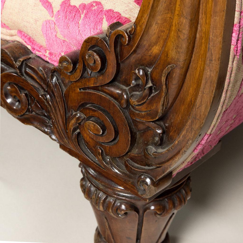 Large nineteenth century rosewood sofa,-135164