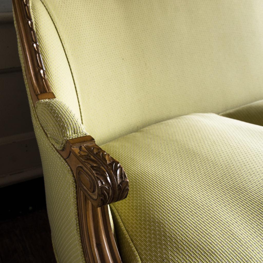 Louis XVI style beech framed canape sofa,-135081