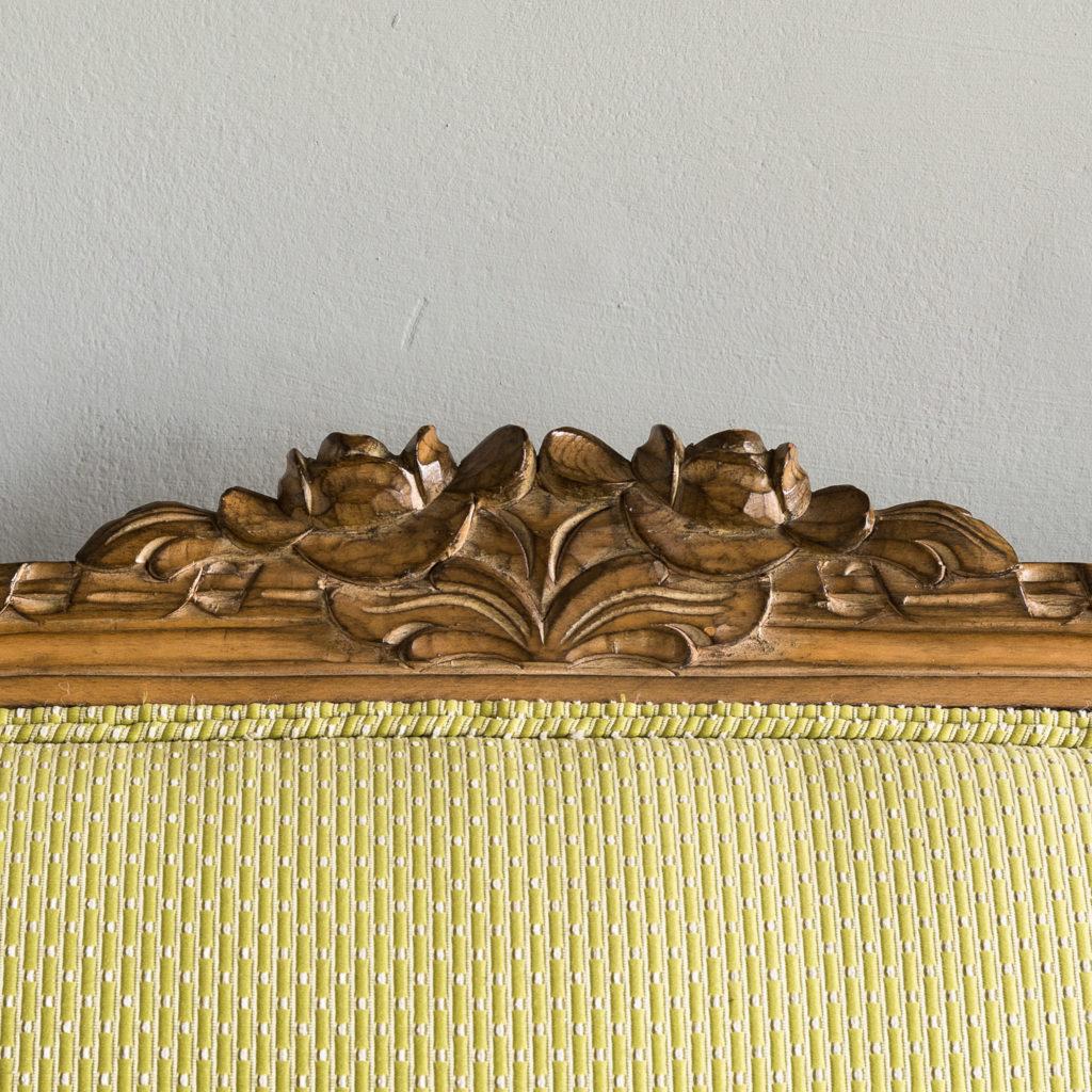 Louis XVI style beech framed canape sofa,-135080