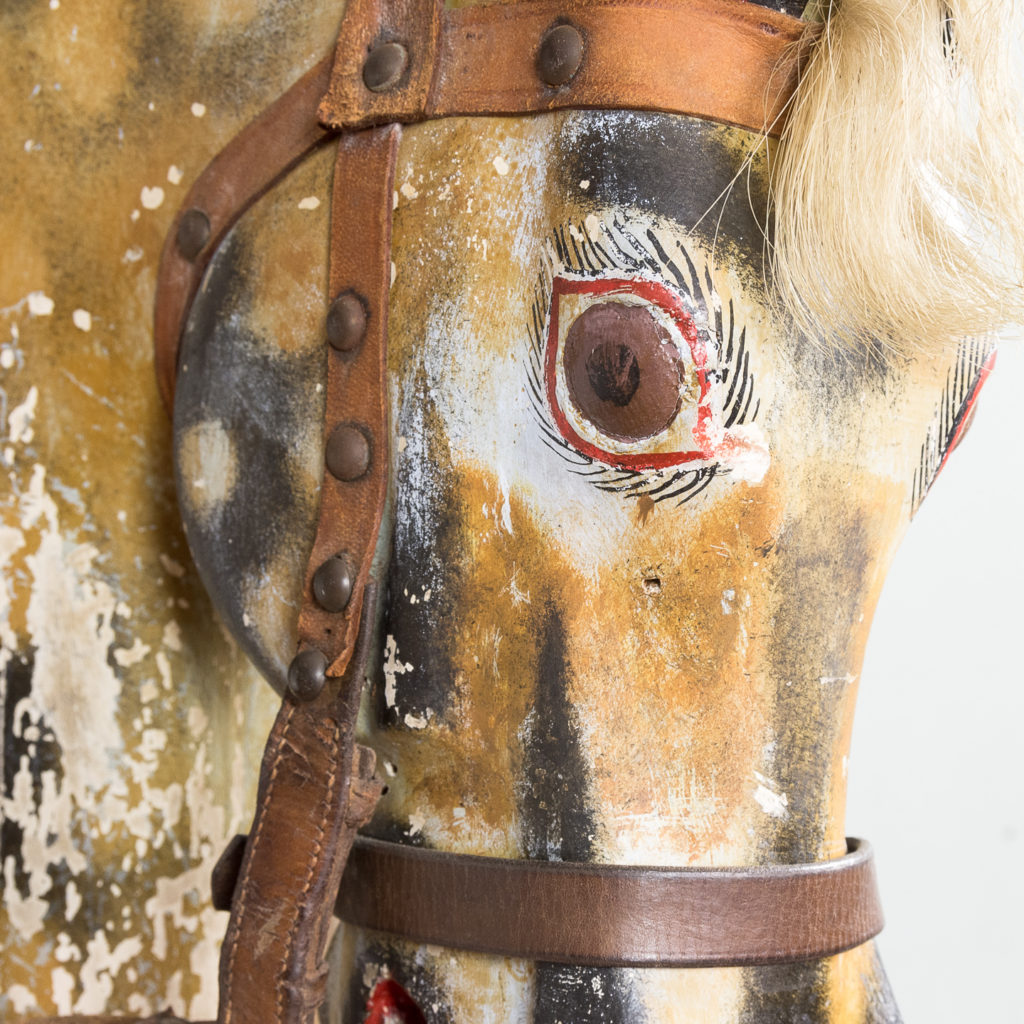 Mid-twentieth century polychrome painted rocking horse, -134981