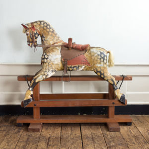 Mid-twentieth century polychrome painted rocking horse,