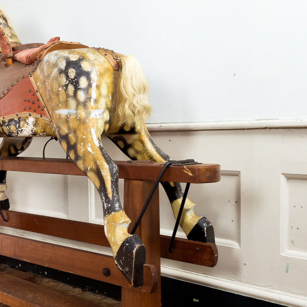 Mid-twentieth century polychrome painted rocking horse, -134973