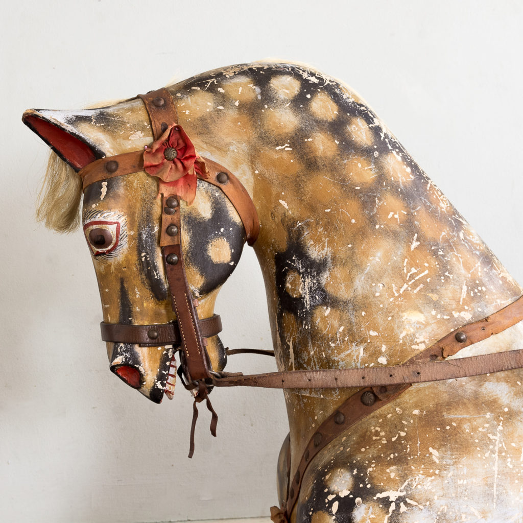 Mid-twentieth century polychrome painted rocking horse, -134977