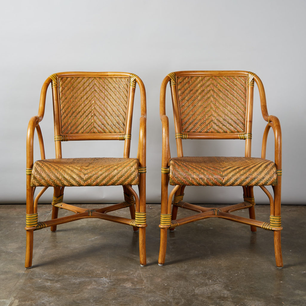 A pair of conservatory armchairs,-135362
