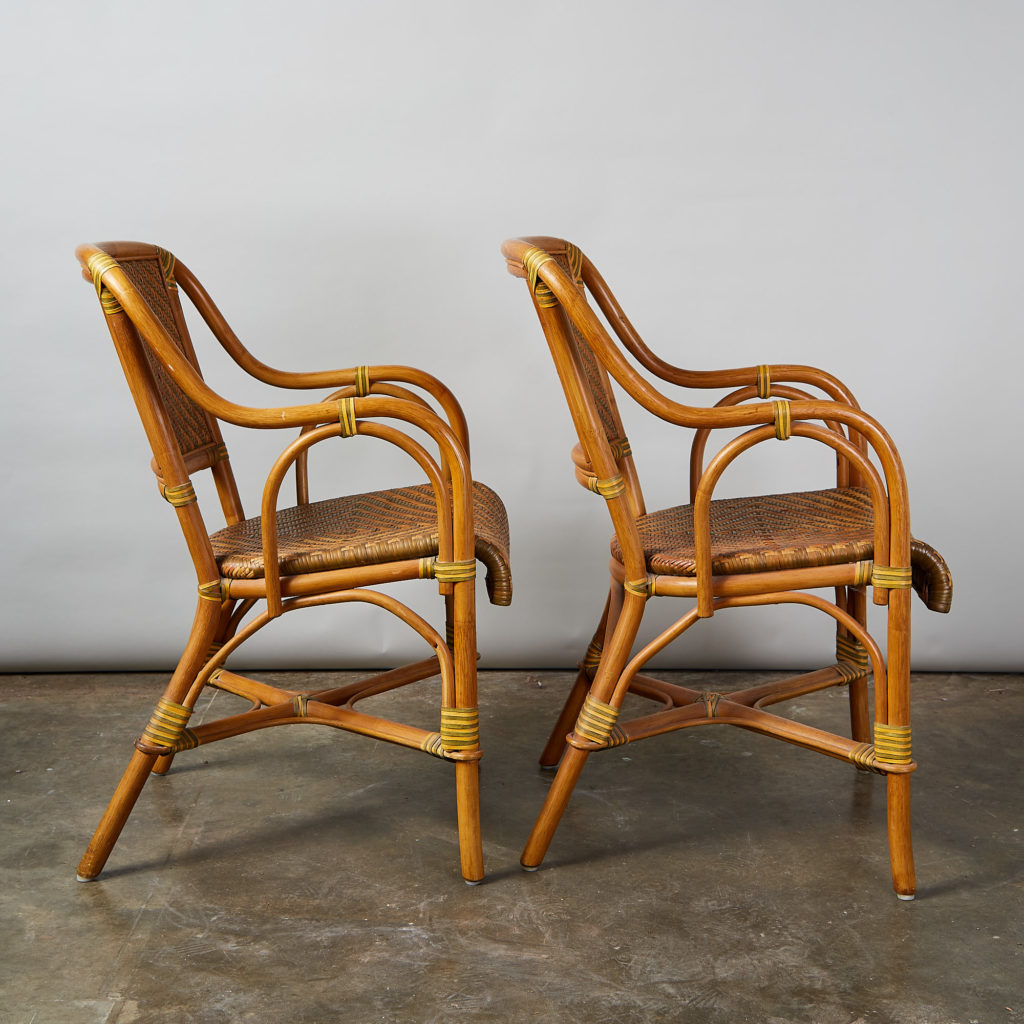 A pair of conservatory armchairs,-135361